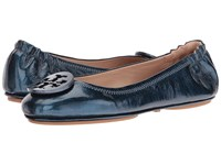 Tory Burch Minnie Travel Ballet True Navy Women's Shoes
