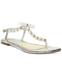 Betsey Johnson Pearl Flat Thong Sandals Women's Shoes