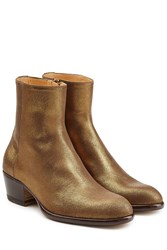 Maison Martin Margiela Leather Ankle Boots Gold