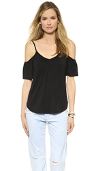 Ella Moss Bella Cold Shoulder Tee Black