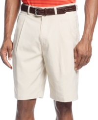 Pga Tour Double Pleat Performance Golf Shorts Silver Lining