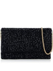 Reiss Minty Crystal Embellished Clutch Bag Black