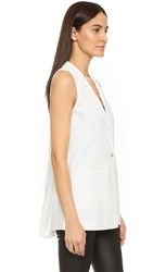 Elizabeth And James Garnet Sheer Back Vest Ivory
