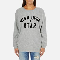 Maison Scotch Women's Wish Upon A Star Boxy Fit Sweatshirt Grey