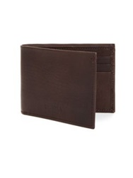 Shinola Essex Slim Leather Billfold Wallet Deep Brown