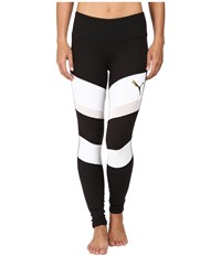 Puma Mix Material Tights Black White Women's Casual Pants