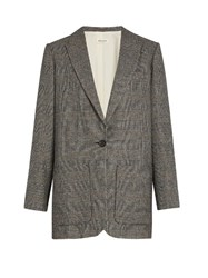 Masscob Prince Of Wales Checked Cotton Blend Jacket Grey Multi