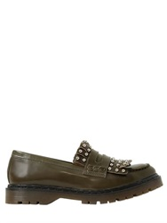 Red Valentino 20Mm Studded Fringed Leather Loafers