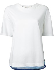 Muveil Back Print T Shirt White