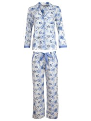 Cyberjammies Porcelain Doll Floral Pyjama Set Blue Multi