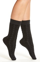 Smartwool Women's 'Cozy Dot' Crew Socks Charcoal Heather