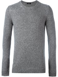 Roberto Collina Round Neck Pullover Grey