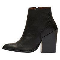 Selected Femme Tania Block Heeled Ankle Boots Black