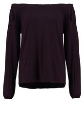 More And More Long Sleeved Top Dark Cassis Bordeaux