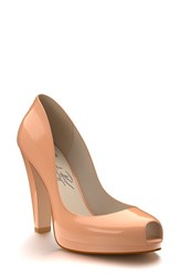 Shoes Of Prey Women's Peep Toe Platform Pump Nude Patent