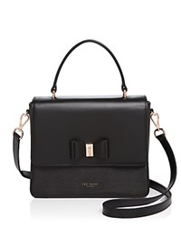 Ted Baker Caelia Bow Medium Satchel Black Rose Gold