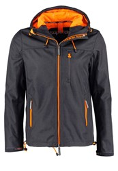 Superdry Summer Jacket Dark Grey Marl Fluro Orange Mottled Grey