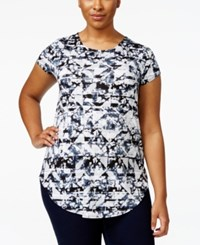 Alfani Plus Size Cap Sleeve Printed T Shirt Only At Macy's Tie Dye Impress