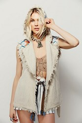 Free People Embroidered Modern Wrap Vest