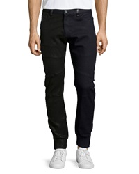 Jerome Leather Moto Jogger Pants Black Black Daniel Won
