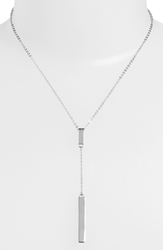 Nordstrom Y Necklace Silver