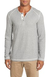 Men's Wallin And Bros. 'Motherwell' Long Sleeve Henley Grey Griffen Jasper