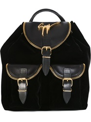 Giuseppe Zanotti Design Signature Backpack Black