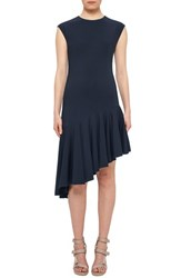 Akris Punto Women's Asymmetrical Hem Sheath Dress Navy