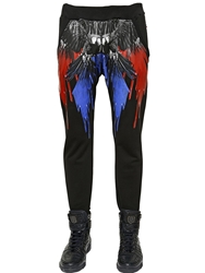 Philipp Plein Printed Cotton Jogging Pants Black