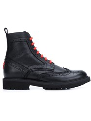 Givenchy Brogue Detail Ankle Boots Black