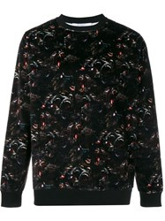 Givenchy Baboon Print Velour Sweatshirt Black