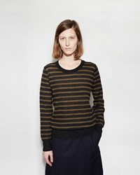 Mhl By Margaret Howell Striped Thermal Black Khaki