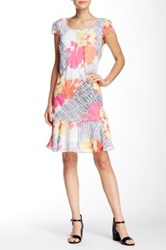Robbie Bee Printed Scoop Neck Dress Multi