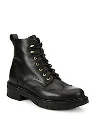 Rag And Bone Brogue Leather Wingtip Boots Black
