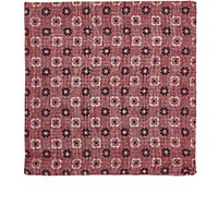 Fairfax Men's Reversible Linen Cotton Compact Gauze Pocket Square Red Navy White Red Navy White