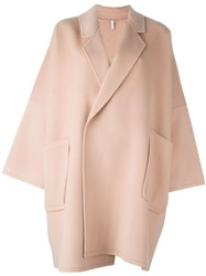 Helmut Lang Oversized Cape Coat Pink And Purple