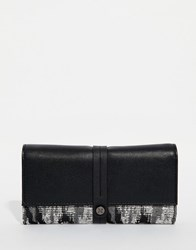 Fiorelli Printed Tri Fold Purse Black Abstract