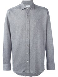Etro Micro Houndstooth Shirt Grey