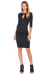 Michael Stars Keyhole Dress Black