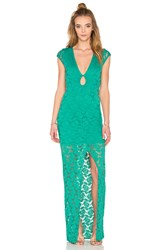 Nightcap Teardrop Lace Maxi Dress Green