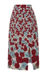 Ungaro Emanuel Embroidered High Rise Wrap Skirt Red Blue White