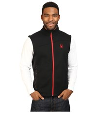 Spyder Constant Mid Weight Core Sweater Vest Black Red Men's Sweater