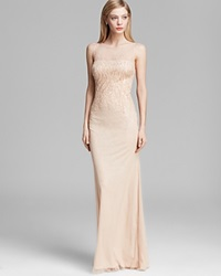 Js Collections Gown Sleeveless Sequin Sheer