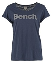 Bench Citizzen Print Tshirt Total Eclipse Dark Blue