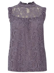 Dorothy Perkins Lace Victoriana Top Grey