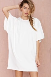 Nasty Gal Blq Basiq Loose It Tee Dress White