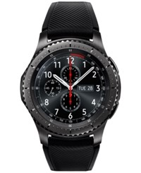 Samsung Men's Gear S3 Frontier Chronograph Smart Watch With 46Mm Silicone Case And Black Sport Strap Sm R760ndaaxar