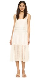 Bb Dakota Clara Embroidered Trapeze Dress Antique Ivory