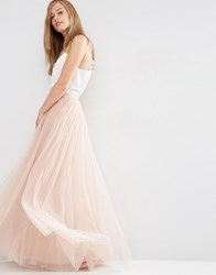 Needle And Thread Tulle Maxi Skirt Blush Pink