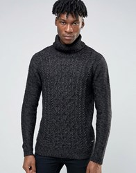 Only And Sons Roll Neck Knitted Jumper Black
